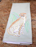Sunset Cheetah Hand Towel For Sale at Raspberry Lane Crafts