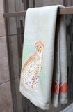 Cheetah Sunset Safari Hand Towel