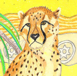 Cheetah Sunset Signed Print