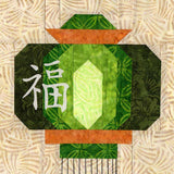 Buy Green Chinese Lantern Quilt Pattern Download at Raspberry Lane Crafts
