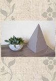 Large chocolate brown paper foldable pyramid for sale Raspberry Lane Home