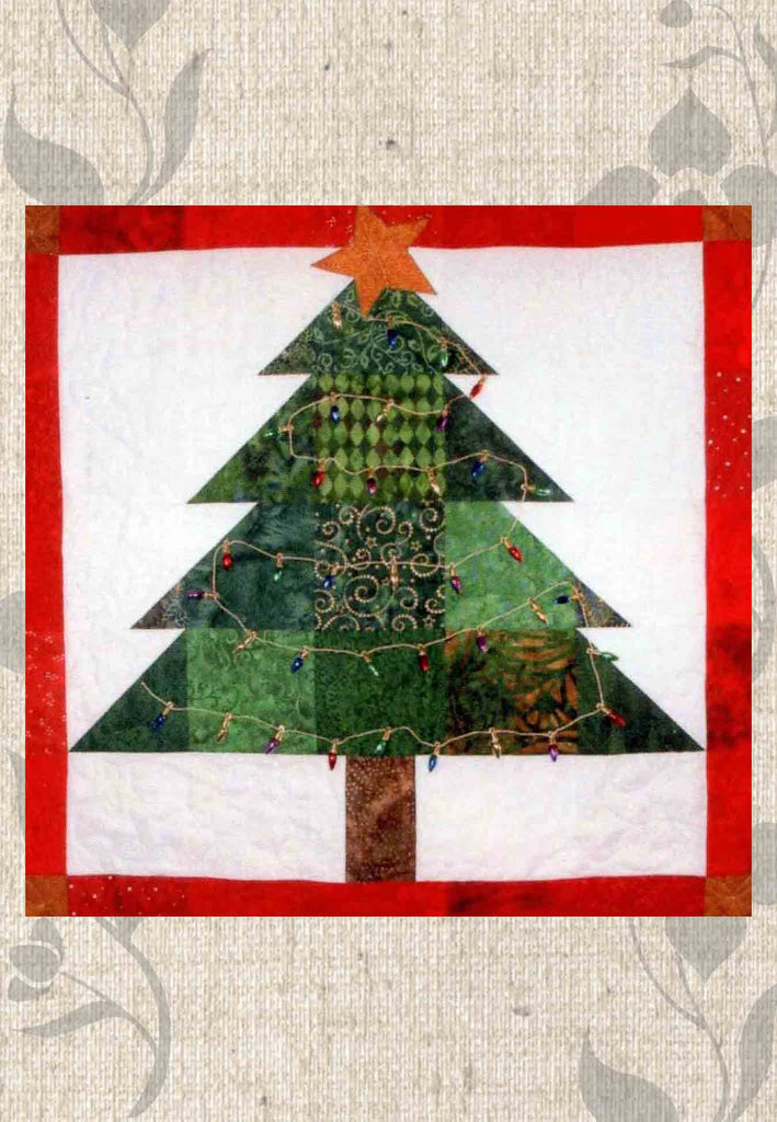 Buy Charmed Christmas Tree Quilt Block Pattern at Raspberry Lane Crafts Limping Lizard