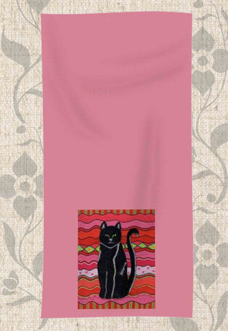 Circus Cat Hand Towel