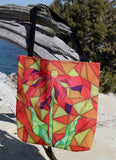 Red flower orange bag for sale in the Raspberry Lane Home Collection
