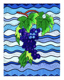 Purple Grapes Giclee 8 x 10 inch for sale Concord Grape by Wendy Christine