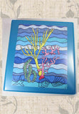 Nautical 3-Ring Binder.  Coral Island Art Binder by Wendy Christine.  For Sale at Raspberry Lane Crafts.