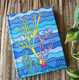 Coral Island Hard Journal for Sale at Raspberry Lane Crafts.  Beach Ocean Design