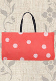 Coral Red Spots Weekender Bag for Sale at Raspberry Lane Crafts.  The Art of Wendy Christine