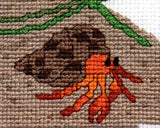The Crab and the Bottle Cross Stitch Pattern