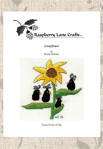 Crowflower Cross Stitch Pattern Download