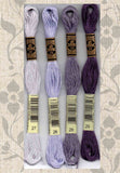 Buy DMC six-stranded embroidery floss 27 White Violet, 26 Pale Lavender, 28 Medium Light Eggplant, 29 Eggplant