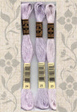 Buy DMC six-stranded embroidery floss 24 White Lavender 25 Ultra Light Lavender 23 Apple Blossom