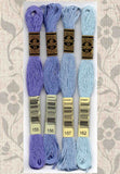 Buy DMC embroidery floss 155, 156, 157, 162 at Raspberry Lane Crafts