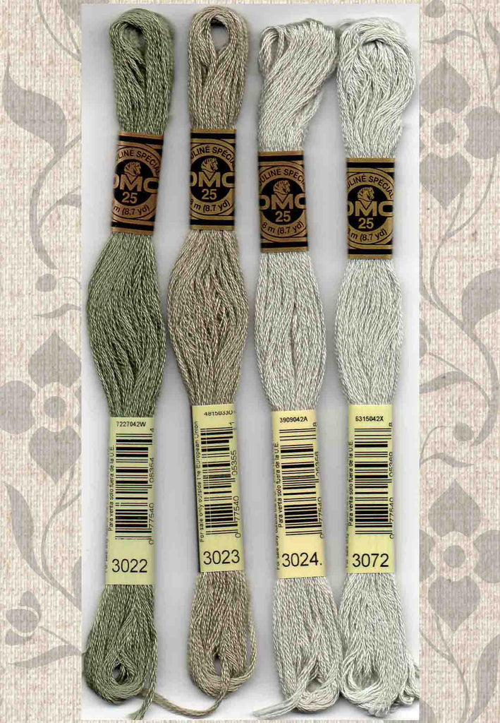 DMC six-stranded embroidery floss - 3022, 3023, 3024, 3072 for Sale Buy Find