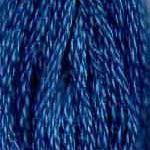 Buy DMC 3765 - Very Dark Peacock Blue six stranded embroidery floss at Raspberry Lane Crafts