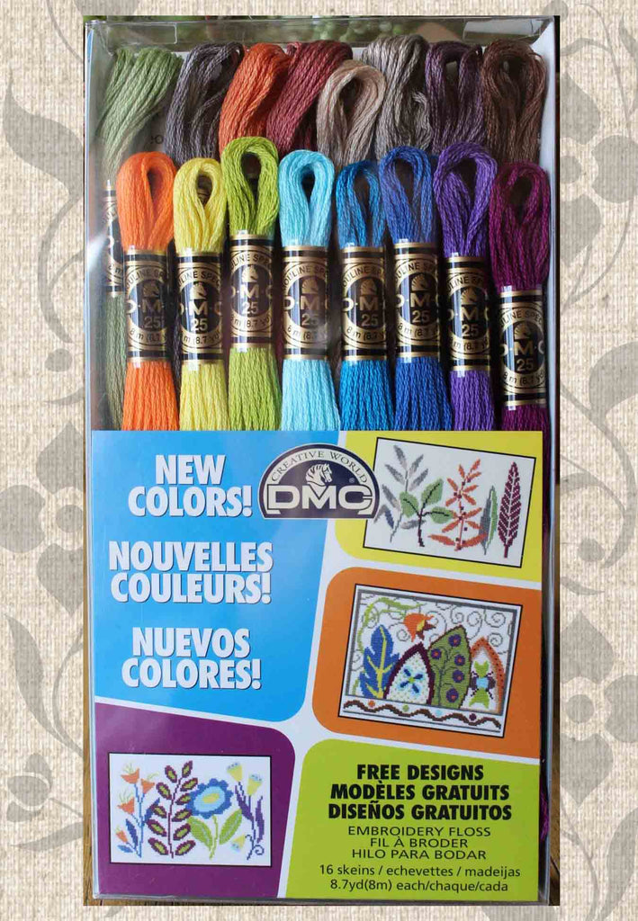 New 16 Colors Six-Stranded Embroidery Floss DMC 2019 for Sale Set Kit