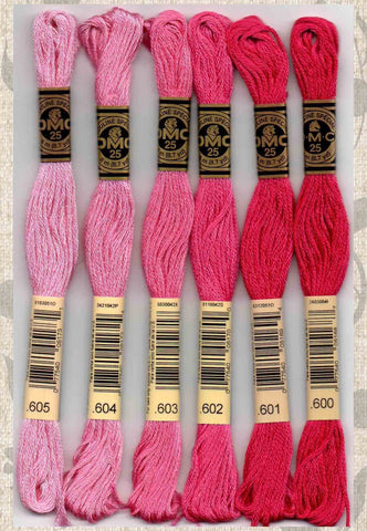 DMC embroidery floss - 600 series