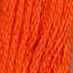 Buy DMC Six-Stranded Embroidery Floss 740 - Tangerine Find