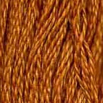 DMC 782 - Dark Topaz six-stranded embroidery floss at Raspberry Lane Crafts