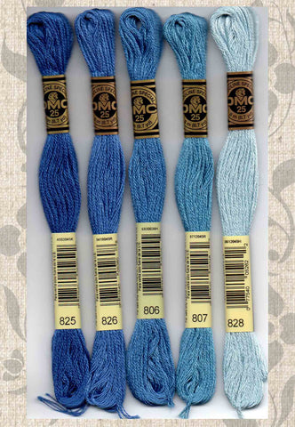 DMC embroidery floss - 800 series