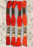 DMC six-stranded embroidery floss 900, 946, 947, 970,  Bright Oranges