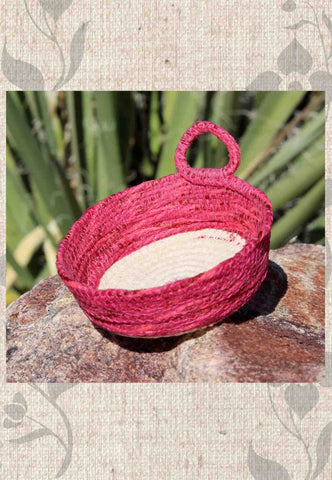 Artisanal Dark Pink Mini Basket