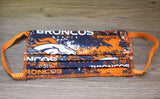 Denver Broncos Football Team Face Masks For Sale Made in US
