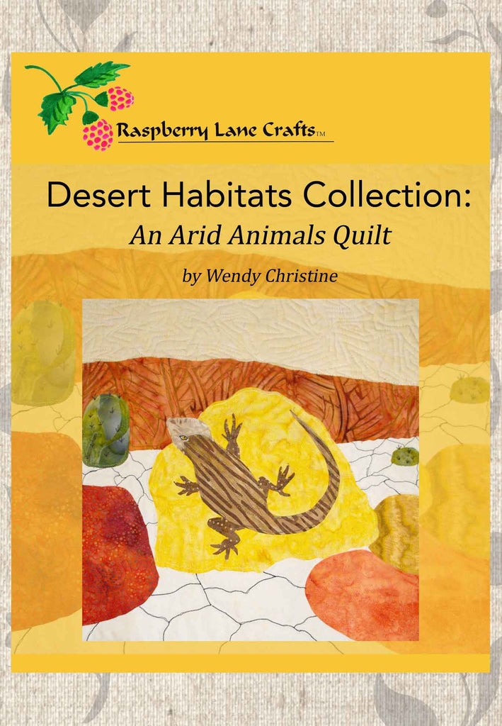 Desert Habitats Collection: An Arid Animals Quilt Book Digital Download
