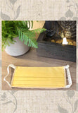 Dijon Mustard Yellow Fabric Face Masks for Sale at Raspberry Lane Crafts
