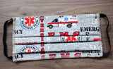 Buy EMS Ambulance Print Fabric Face Masks at Raspberry Lane Crafts