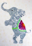 Elephant with Stained Glass Quilt Block Pattern