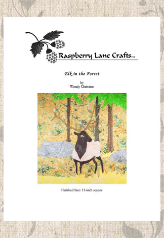 Elk in the Forest Quilt Block Pattern Download