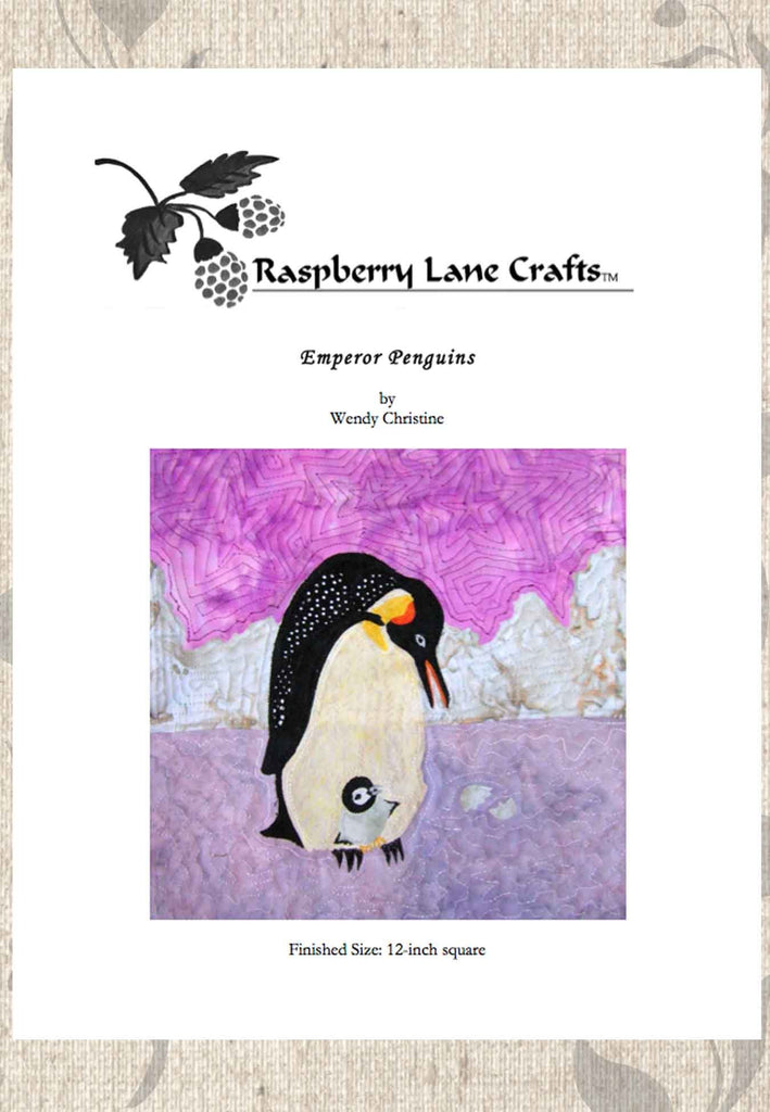 Buy Emperor Penguins quilt block pattern download e-pattern at Raspberry Lane Crafts