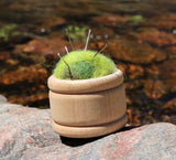 Wool Pin Cushion Puffs - Fern