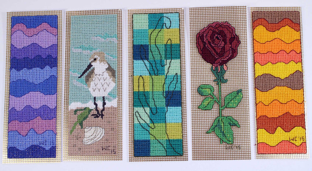 Sea to Garden Bookmarks Cross Stitch Pattern Rose Sandpiper Download
