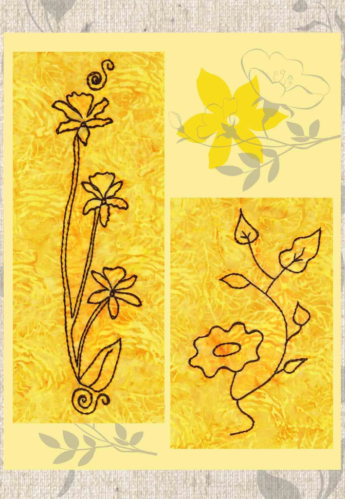 Buy beautiful flower embroidery designs pattern downloads for jeans at Raspberry Lane Crafts