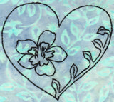 Buy heart with flower embroidery pattern design download at Raspberry Lane Crafts.  Wendy Christine