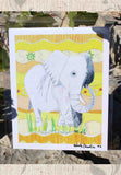 African elephant 8 x 10 inches art print for sale by Wendy Christine