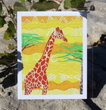 Forest Giraffe 8 x 10 inches Art Print for Sale from The Art of Wendy Christine