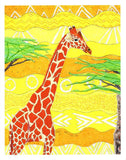 Giraffe 8 x 10 inches art print for sale.  Forest Giraffe by Wendy Christine.  Raspberry Lane Crafts
