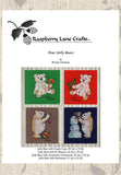 Buy Christmas teddy bears cross stitch patterns at Raspberry Lane Crafts