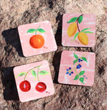 Fruit drink coasters for sale from The Art of Wendy Christine