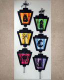 Halloween Sewing Decoration Gaslights of Halloween by Wendy Christine.  Buy Find Purchase at Raspberry Lane Crafts