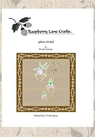 Ghost Orchid Quilt Block Pattern Download