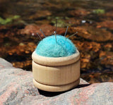 Wool Pin Cushion Puffs - Glacier