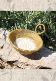 Artisanal Golden Olive Micro Basket for Sale 2 x 1/2 inch.  Hand-Crafted in Colorado USA