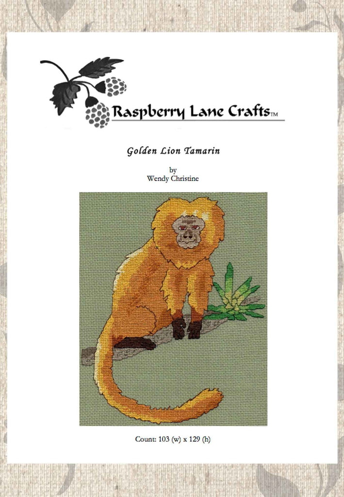 Buy monkey cross stitch patterns at Raspberry Lane Crafts
