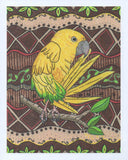 Yellow parrot art print for sale.  Raspberry Lane Crafts.