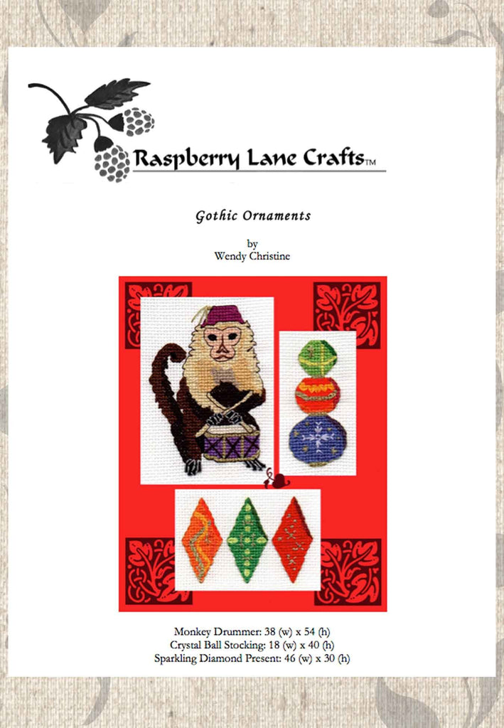 Buy Christmas Ornament Cross Stitch Patterns at Raspberry Lane Crafts