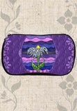 Purple Neoprene Cosmetics Zipper Bags for Sale Grapesugar at Raspberry Lane Crafts